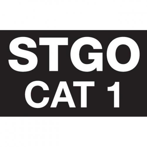 TP4U -  STGO CAT 1/2/3 PLATE / ABNORMAL LOAD MARKER BOARD 400MM X 250MM STICKERS INCLUDED