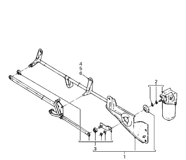 TP4U - DAF SCREEN WIPER MECHANISM LINKAGE FOR LF45 LF55 SERIES