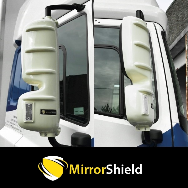 TP4U - KUDA MIRRORSHIELD SUPER STRONG TOUGH  GUARD PROTECTORS PAIR FOR DAF CF/XF EURO 6 (WHITE)