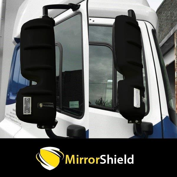 TP4U - KUDA MIRRORSHIELD SUPER STRONG TOUGH GUARD PROTECTORS PAIR FOR DAF CF/XF EURO 6 (BLACK)