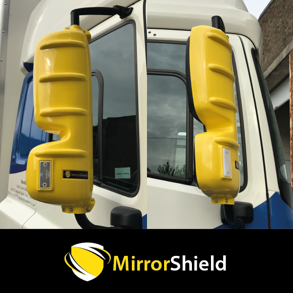 TP4U - KUDA MIRRORSHIELD SUPER STRONG TOUGH GUARD PROTECTORS PAIR FOR DAF CF/XF EURO 6 (YELLOW)