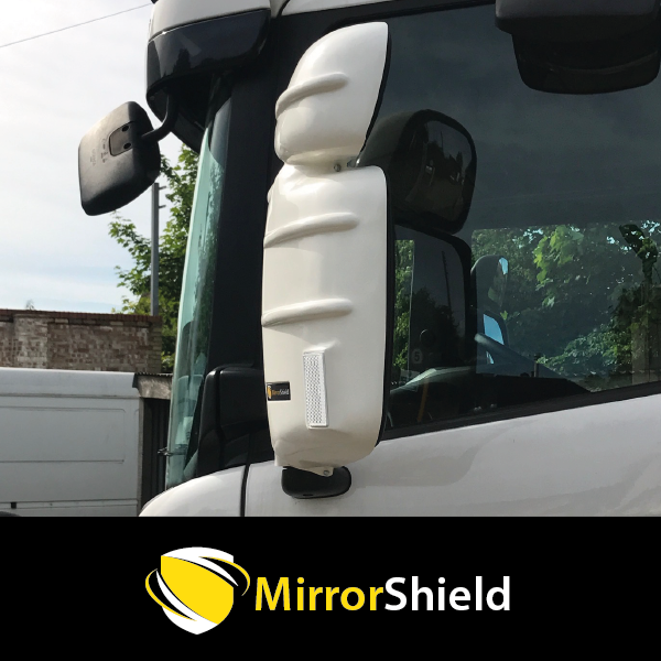 TP4U - SCANIA KUDA MIRROR GUARD PROTECTOR WHITE FOR R,G,P SERIES